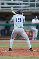 Joe Gellenbeck of the Xavier Musketeers at bat against the Penn State Nittany Lions at Coleman Field at the USA Baseball National Training Center on February 25, 2017 in Cary, North Carolina. The Musketeers defeated the Nittany Lions 10-4 in game one of a double header. (Brian Westerholt/Four Seam Images)