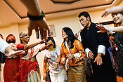 The first GNH Fund participants let their hair down dancing to traditional south african tunes in Thimphu, Bhutan. Photo: Sanjit Das/Panos