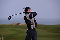 Shane McDermott (NUI Galway) during the final of the Irish Students Amateur Open Championship, Tralee Golf Club, Tralee, Co Kerry, Ireland. 12/04/2018.<br /> Picture: Golffile | Fran Caffrey<br /> <br /> <br /> All photo usage must carry mandatory copyright credit (&copy; Golffile | Fran Caffrey)