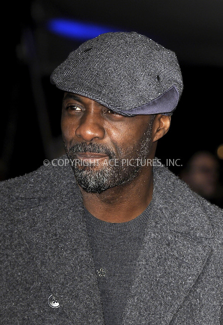 WWW.ACEPIXS.COM<br /> <br /> February 16 2015, New York City<br /> <br /> Idris Elba at the world premiere of 'The Gunman' at the BFI Southbank on February 16 2015 in London<br /> <br /> By Line: Famous/ACE Pictures<br /> <br /> <br /> ACE Pictures, Inc.<br /> tel: 646 769 0430<br /> Email: info@acepixs.com<br /> www.acepixs.com