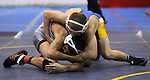 Wood's JT Teel and Kameron Morones of Paso Robles compete at the Sierra Nevada Classic wrestling tournament in Reno, Nev., on Friday, Dec. 28, 2012. .Photo by Cathleen Allison