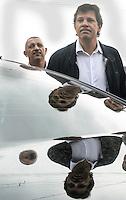 SAO PAULO, SP, 25 MARCO 2013 - VISTORIA FERNANDO HADDAD - Prefeito de Sao Paulo Fernando Haddad faz vistoria da ação de limpeza do Córrego Água Vermelha e serviços de zeladoria realizados na Praça Craveiro do Campoà no bairo de Sao Migulel Pta na zona leste de Sao Paulo . Na manha desta segunda feira 25. (FOTO: ALAN MORICI / BRAZIL PHOTO PRESS).