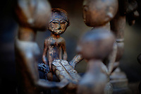 Los Angeles, California, November 14, 2009 - African sculptures fill the home of Ernie and Diane Wolfe, owners of the Ernie Wolfe Gallery and the most reknowned African at dealers in the country. ..CREDIT: Daryl Peveto/LUCEO for The Wall Street Journal.Homefront - Ernie Wolfe #1348.