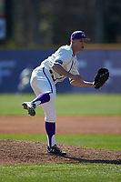 High Point Panthers relief pitcher Rion Murrah (29) follows through on his delivery against the NJIT Highlanders at Williard Stadium on February 19, 2017 in High Point, North Carolina. The Panthers defeated the Highlanders 6-5. (Brian Westerholt/Four Seam Images)