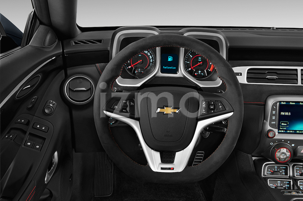 Car pictures of steering wheel view of a 2015 Chevrolet Camaro ZL1 Coupe 2 Door  Steering Wheel