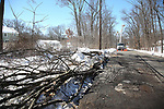 JCP&L Contracted Crews work on restoring power in East Hanover, New Jersey
