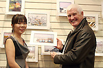 Erin O'Connor of Frames Unlimited with Eric at the Launch of Eric O'Neill's exhibition..Photo NEWSFILE/Jenny Matthews.(Photo credit should read Jenny Matthews/NEWSFILE)....This Picture has been sent you under the condtions enclosed by:.Newsfile Ltd..The Studio,.Millmount Abbey,.Drogheda,.Co Meath..Ireland..Tel: +353(0)41-9871240.Fax: +353(0)41-9871260.GSM: +353(0)86-2500958.email: pictures@newsfile.ie.www.newsfile.ie.FTP: 193.120.102.198.