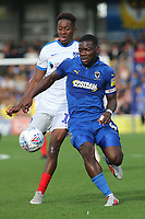 Deji Oshilaja of AFC Wimbledon in action during AFC Wimbledon vs Portsmouth, Sky Bet EFL League 1 Football at the Cherry Red Records Stadium on 13th October 2018