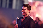 A picture taken on December 31, 2019 shows Palestinian singer Mohammed Assaf performs during new Year's party in Istanbul, Turkey. Photo by Shady Alassar