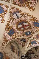 Europe/Italie/Emilie-Romagne/Bologne : Détail des voûtes d'un escalier de la Chambre de Commerce