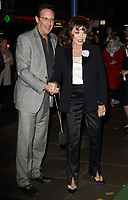 Percy Gibson and Dame Joan Collins at the Young Frankenstein Opening Night at the Garrick Theatre, Charing Cross Road, London on October 10th 2017<br /> CAP/ROS<br /> &copy; Steve Ross/Capital Pictures