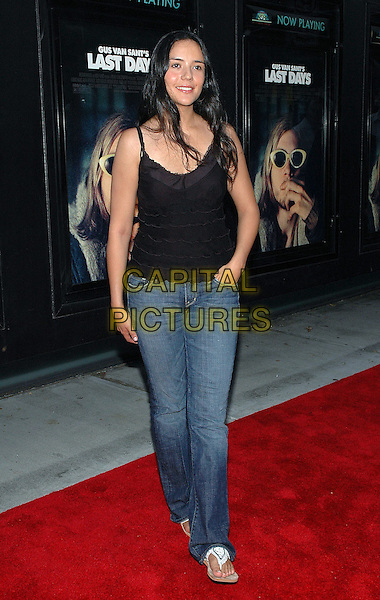 "CATALLINA S. MORENO.The premiere of the new film, ""Last Days"", at The Sunshine Theater in Manhattan, New York, New York..July 19th, 2005.Photo Credit: Patti Ouderkirk/AdMedia.full length black top layers ruffles jeans denim.www.capitalpictures.com.sales@capitalpictures.com.© Capital Pictures."