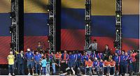 BOGOTA - COLOMBIA, 05-07-2018: Jugadores de la Selección Colombia de fútbol reciben un homenaje hoy, 05 de julio de 2018, después de su participación en la Copa Mundial de la FIFA Rusia 2018. El acto tuvo lugar een el estadio Nemesio Camacho El Campín de la ciudad de Bogotá / Players of Colombia national soccer team receives tribute today, July 5, 2018, after its participation in the FIFA World Cup Russia 2018. The event took place at Nemesio Camacho El Campin stadium in Bogota city. Photo: VizzorImage / Gabriel Aponte / Staff