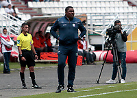 MANIZALES -COLOMBIA, 1-04-2018: Hubert Bodhert director técnico del Once Caldas contra La Equidad  durante partido por la fecha 12 de la Liga Águila I 2018 jugado en el estadio Palogrande  de la ciudad de Manizales./ Hubert Bodhert coach  of Once Caldas  agaisnt of Equidad during the match for the date 12 of the Aguila League I 2018 played at Palogrande  stadium in Manizales city. Photo: VizzorImage/ Santiago Osorio / Contribuidor