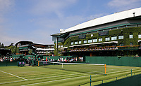 Wimbledon general view<br /> <br /> Photographer Rob Newell/CameraSport<br /> <br /> Wimbledon Lawn Tennis Championships - Day 3 - Wednesday 4th July 2018 -  All England Lawn Tennis and Croquet Club - Wimbledon - London - England<br /> <br /> World Copyright &not;&copy; 2017 CameraSport. All rights reserved. 43 Linden Ave. Countesthorpe. Leicester. England. LE8 5PG - Tel: +44 (0) 116 277 4147 - admin@camerasport.com - www.camerasport.com