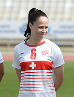 20180305 - LARNACA , CYPRUS : Swiss Geraldine Reuteler pictured during a women's soccer game between Switzerland and Wales , on monday 5 March 2018 at GSZ Stadium in Larnaca , Cyprus . This is the third game in group A for Switzerland and Wales during the Cyprus Womens Cup , a prestigious women soccer tournament as a preparation on the World Cup 2019 qualification duels. PHOTO SPORTPIX.BE   DAVID CATRY