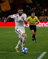 Karim Benzema of Real Madrid during the Champions League Group  soccer match between AS Roma - Real Madrid  at the Stadio Olimpico in Rome Italy 27 November 2018