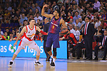 League ACB-ENDESA 2017/2018.<br /> PlayOff-Semifinal-Game: 3<br /> FC Barcelona Lassa vs Kirolbet Baskonia: 67-65.<br /> Matt Janning vs Adam Hanga.