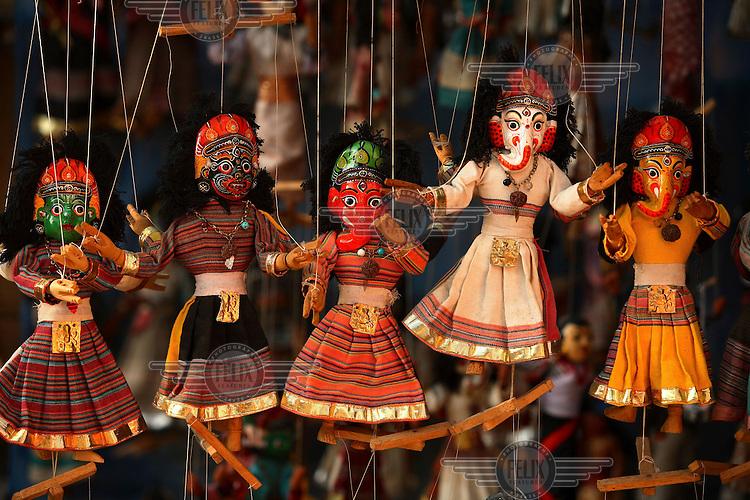 Puppets on sale in Kathmandu.