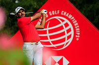Gaganjeet Bhullar (IND) on the 2nd tee during the 2nd round at the WGC HSBC Champions 2018, Sheshan Golf CLub, Shanghai, China. 26/10/2018.<br /> Picture Fran Caffrey / Golffile.ie<br /> <br /> All photo usage must carry mandatory copyright credit (&copy; Golffile | Fran Caffrey)