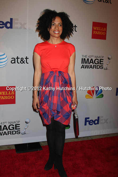 LOS ANGELES - FEB 11:  Janine Sherman Barrois arrives at the NAACP Image Awards Nominees Reception at the Beverly Hills Hotel on February 11, 2012 in Beverly Hills, CA