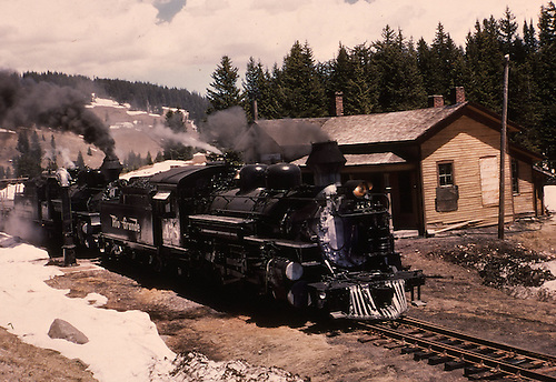 D&amp;RGW #478 and #476 at Cumbres section house.<br /> D&amp;RGW  Cumbres, CO