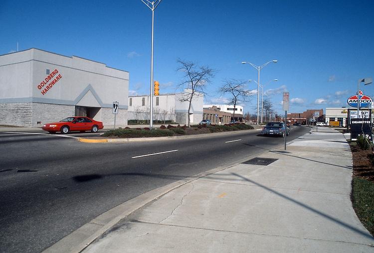 1992 January ..Redevelopment.Church Street..800 BLOCK CHURCH STREET.WEST SIDE.LOOKING NORTH FROM BRAMBLETON...NEG#.NRHA#..