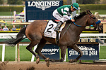 ARCADIA, CA  MARCH 7: #2 Flagstaff, ridden by Victor Espinoza, wins the San Carlos Stakes (Grade ll) on March 7, 2020, at Santa Anita Park in Arcadia, CA.(Photo by Casey Phillips/Eclipse Sportswire/CSM