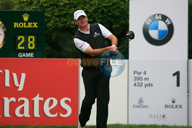 Paul Lawrie (SCO) tees off on the 1st tee to start his round during of Day 3 of the BMW International Open at Golf Club Munchen Eichenried, Germany, 25th June 2011 (Photo Eoin Clarke/www.golffile.ie)