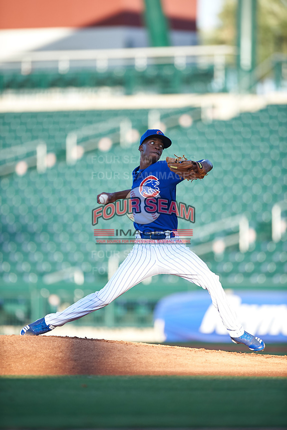 AZL Cubs 1 starting pitcher Benjamin Rodriguez (70) during an Arizona League game against the AZL Padres 1 on July 5, 2019 at Sloan Park in Mesa, Arizona. The AZL Cubs 1 defeated the AZL Padres 1 9-3. (Zachary Lucy/Four Seam Images)