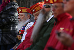 A group of veterans attend the Pearl Harbor 75th Commemoration at the U.S.S. Nevada memorial at the Capitol in Carson City, Nev. on Wednesday, Dec. 7, 2016. <br />