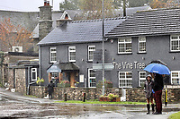 Flooding caused by heavy rain in Crickhowell, south Wales, UK. Saturday 26 October 2019