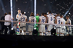 Real Madrid Cristiano Ronaldo talking during the celebration of the 13th UEFA Championship at Santiago Bernabeu Stadium in Madrid, June 04, 2017. Spain.<br /> (ALTERPHOTOS/BorjaB.Hojas)