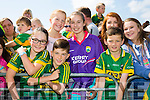 l-r Jodie O'Shea, Maggie Kingston, Zack O'Shea, Caoimhe Foley, Darragh O'Callaghan, Liam Moynihan and Julie Kelly at Kerry GAA family day at Fitzgerald Stadium  on Sunday