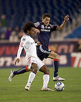 New England Revolution midfielder Marko Perovic (29) at midfield. The New England Revolution defeated Toronto FC, 4-1, at Gillette Stadium on April 10, 2010.