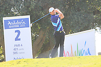 Steve Webster (ENG) during the final day of the  Andalucía Masters at Club de Golf Valderrama, Sotogrande, Spain. .Picture Denise Cleary www.golffile.ie
