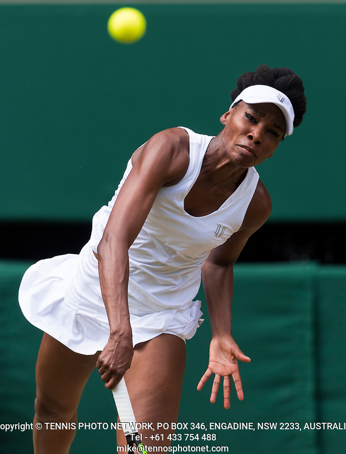 VENUS WILLIAMS (USA)<br /> <br /> TENNIS - THE CHAMPIONSHIPS - WIMBLEDON- ALL ENGLAND LAWN TENNIS AND CROQUET CLUB - ATP - WTA -ITF - WIMBLEDON-SW19, LONDON, GREAT  BRITAIN- 2017  <br /> <br /> <br /> &copy; TENNIS PHOTO NETWORK