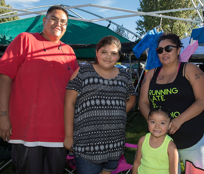 The Johnson Family during the Stewart Father's Day Pow Wow in Carson City on Friday, June 16, 2017.