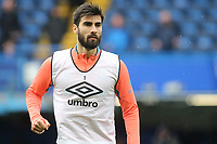 Andre Gomes of Everton warms up ahead of kick-off during Chelsea vs Everton, Premier League Football at Stamford Bridge on 8th March 2020