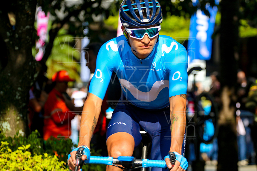 MEDELLIN - COLOMBIA, 15-02-2019: Winner Anacona (COL), Movistar team, durante la cuarta etapa del Tour Colombia 2.1 2019 con un recorrido de 144 Km, que se corrió con salida y llegada en el estadio Atanasio Girardot de la ciudad de Medellín. / Winner Anacona (COL), Movistar team, during the four stage of 144 km of Tour Colombia 2.1 2019 that ran with start and arrival in Atanasio Girardot stadium in Medellin city.  Photo: VizzorImage / Anderson Bonilla / Cont