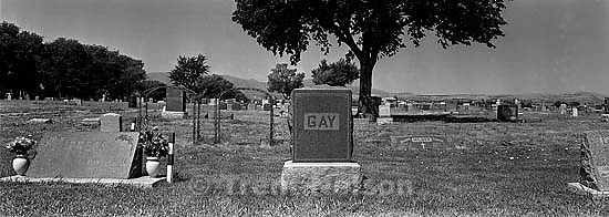 &quot;Gay&quot; headstone at the cemetery<br />