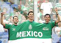Tres amigos, Mexican fans. Portugal defeated Mexico 2-1 in their FIFA World Cup Group D match at FIFA World Cup Stadium, Gelsenkirchen, Germany, June 21, 2006.