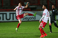 Alex Samuel of Stevenage fires in a shot during Stevenage vs Brighton & Hove Albion Under-21, Checkatrade Trophy Football at the Lamex Stadium on 7th November 2017