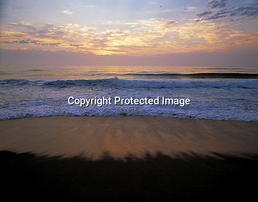 View of ocean at sunrise on South Beach