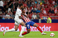 Atletico de Madrid vs Huesca Spanish league football match at Wanda Metropolitano in Madrid on September 25, 2018.<br /> Gelson; Semedo