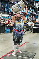 Brian Shaw (cq) and other strong men participate in the 2013 America's Strongest Man competition at the Las Vegas Convention Center in Las Vegas, Nevada, Saturday, September 28, 2013.<br /> <br /> Photo by Matt Nager