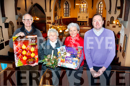 Attending the St. John&rsquo;s Church Ashe St Tralee, Ballymac and Ballyseedy Christmas Fair launch. L to r: Michael Latchford,  Mary Kinch, Mona Butler and Rev Jim Stephens. <br /> The Christmas Fair is been held this Saturday Dec 16th from 10am to 6pm.