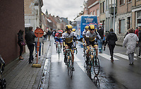 Team LottoNL-Jumbo towards the race start in Poperinge<br /> <br /> Tour de l'Eurom&eacute;tropole 2016 (1.1)<br /> Poperinge &rsaquo; Tournai (196km)/ Belgium