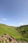 Golan Heights, ruins of Gamla overlooking Nahal Daliyot