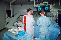 Surgery to repair blocked blood vessels. This image may only be used to portray the subject in a positive manner..©shoutpictures.com..john@shoutpictures.com